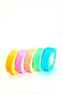 カラフルなマスキングテープの写真素材 [FYI01190140]