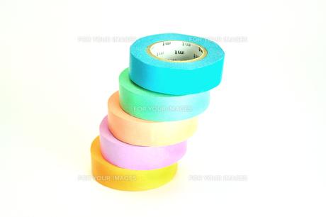 カラフルなマスキングテープの写真素材 [FYI01190141]