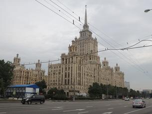 ウクライナホテルとクトゥソフスキー・プロスペクト通りの写真素材 [FYI01190203]