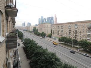 ウクライナホテルとその周辺とクトゥソフスキー・プロスペクト通りの写真素材 [FYI01190206]