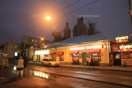 モスクワのウーリシャ・ピャトニツカヤ通りの店の写真素材 [FYI01190217]