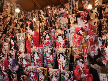 浅草 羽子板市の写真素材 [FYI01190707]