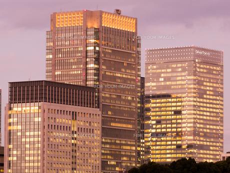 丸の内の高層ビルの写真素材 [FYI01190747]