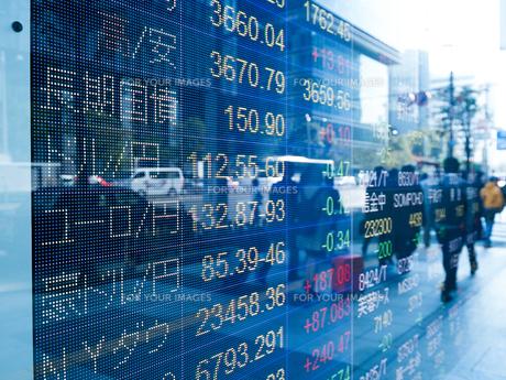 株価イメージの写真素材 [FYI01190894]