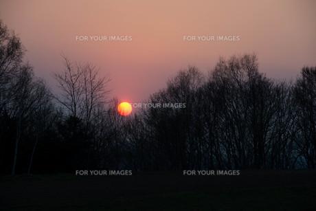 夕陽の写真素材 [FYI01190950]