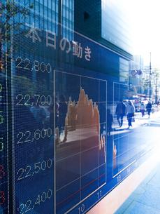 株価イメージの写真素材 [FYI01190957]
