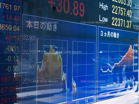 株価イメージの写真素材 [FYI01190961]