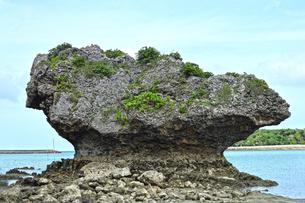 浜比嘉島の巨大岩の写真素材 [FYI01191425]
