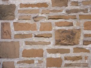 石を貼り込んだ壁の写真素材 [FYI01191697]