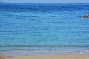 秋のビーチ / 福岡市生の松原海水浴場 の写真素材 [FYI01191964]