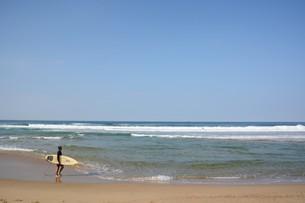 サーフィンスポット / 福岡県糸島市志摩芥屋海岸の写真素材 [FYI01192095]
