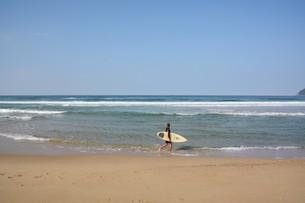 サーフィンスポット / 福岡県糸島市志摩芥屋海岸の写真素材 [FYI01192096]