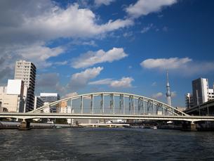 隅田川 総武本線隅田川橋梁の写真素材 [FYI01192113]