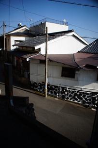 旧東海道 間の宿倉沢の町並みの写真素材 [FYI01192269]