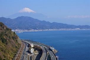 薩隆峠からの風景(旧東海道)の写真素材 [FYI01192270]