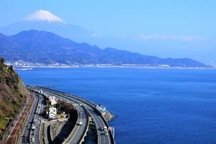 薩隆峠からの風景(旧東海道)の写真素材 [FYI01192274]