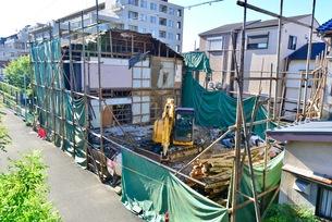 震災の解体工事の写真素材 [FYI01192468]