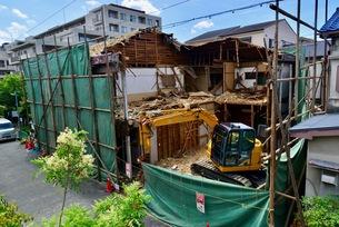 震災の解体工事の写真素材 [FYI01192469]