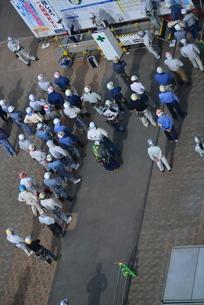 工事現場での集会の写真素材 [FYI01192480]
