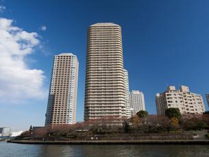 川辺のタワーマンションの写真素材 [FYI01192699]