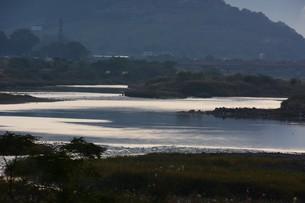 とうとうと流れる大河 「筑後川」 / 福岡県朝倉市の写真素材 [FYI01192932]
