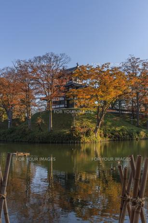 秋の高田城の風景の写真素材 [FYI01193139]