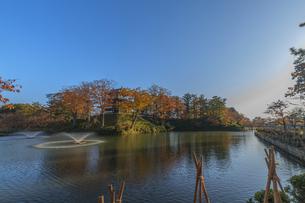 秋の高田城の風景の写真素材 [FYI01193151]
