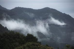 霧の山なみ・九州福岡県朝倉市の写真素材 [FYI01193682]
