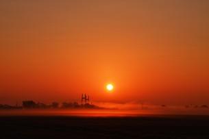 幻想的空間・朝霧の写真素材 [FYI01193698]