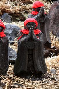 那須の名勝 賽の河原の千体地蔵の写真素材 [FYI01193760]