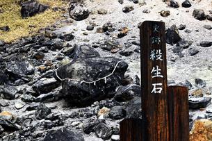 那須の名勝 賽の河原の殺生石の写真素材 [FYI01193764]