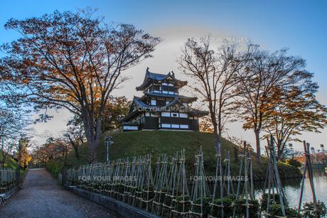秋の高田城の風景の写真素材 [FYI01193883]