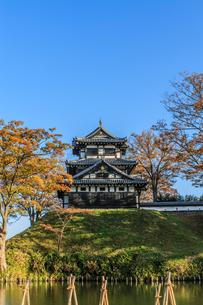 秋の高田城の風景の写真素材 [FYI01193885]
