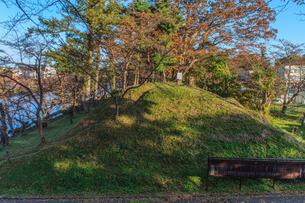秋の高田城の風景の写真素材 [FYI01194284]