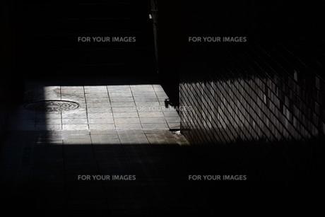 抽象 / 地下道の光と影の写真素材 [FYI01194674]