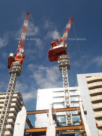 ビル建設工事の写真素材 [FYI01194737]