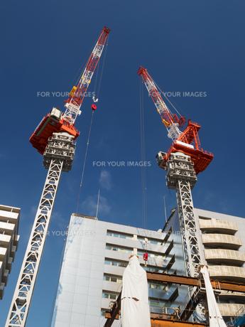 ビル建設工事の写真素材 [FYI01194742]