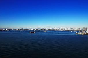 東京湾のパノラマ風景の写真素材 [FYI01194830]