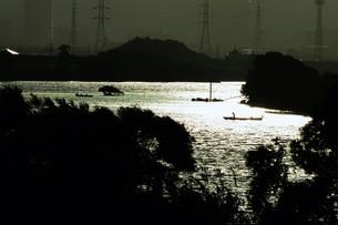暮色・筑後川の写真素材 [FYI01195056]
