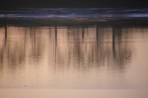 暮色・筑後川の写真素材 [FYI01195059]