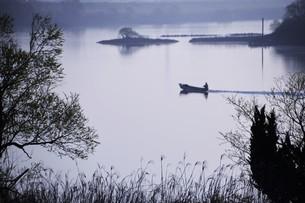 暮色・筑後川の写真素材 [FYI01195061]