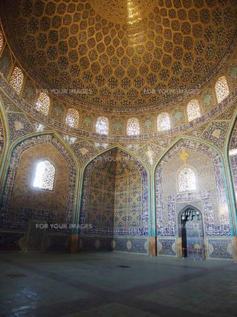 エスファハーンのモスク1の写真素材 [FYI01195218]