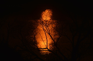 日本の風景 / 陽を浴びて炎のごとく燃ゆる河 / 九州 筑後川の写真素材 [FYI01195538]