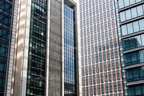 ビルの外壁にクローズアップした抽象的な都市のテクスチャの写真素材 [FYI01195748]