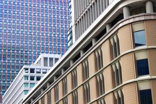 ビルの外壁にクローズアップした抽象的な都市のテクスチャの写真素材 [FYI01195755]