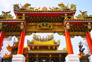 横浜中華街の関帝廟の写真素材 [FYI01196183]