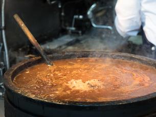 モツ煮込みの鍋の写真素材 [FYI01196221]