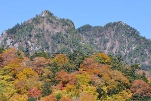紅葉の鶏冠山の写真素材 [FYI01196282]
