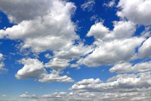 青空に広がる雲の写真素材 [FYI01197245]