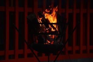 日本の風景・篝火(かがりび)の写真素材 [FYI01197281]
